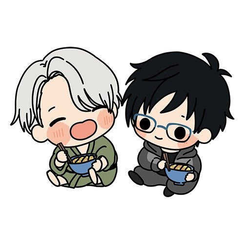 Image 1 for Yuri!!! on Ice - Katsuki Yuuri - Victor Nikiforov - Earphone Jack Accessory - Rubber Strap - Strap