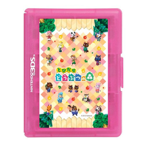 Image 2 for Tobidase Doubutsu no Mori Card Case 12 for 3DS (Pink)