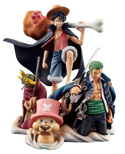 Image 1 for One Piece - Monkey D. Luffy - Roronoa Zoro - Sogeking - Tony Tony Chopper - Desktop Real McCoy (MegaHouse)