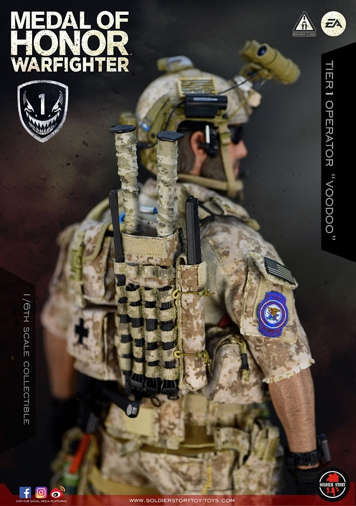 "Soldier Story SS106 1/6 Scale ""Medal of Honor"" Navy SEAL Tier One Operator Voodoo"