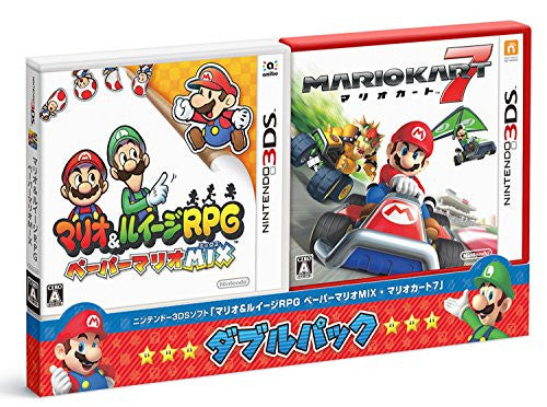 Image 1 for Mario & Luigi RPG Paper Mario Mix & Mario Kart 7 [Double Pack]