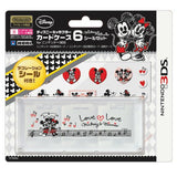 Disney Character Card Case 6 Seal Set for Nintendo 3DS (Mickey & Minnie) - 1