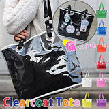 Thumbnail 2 for Ita Bag - Clear Tote Bag - Black with Chain