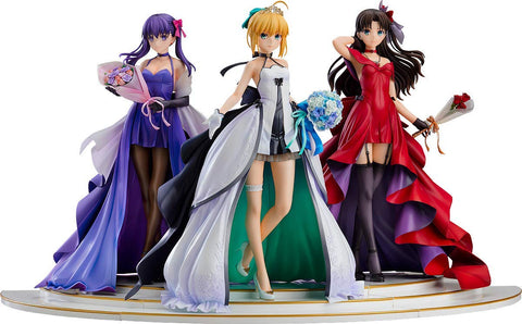 Fate/Stay Night - Saber - Matou Sakura - Rin Tohsaka - 1/7 - 15th Celebration Dress Ver.  - Set of 3 Figures (Good Smile Company)