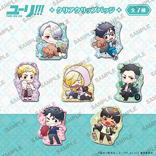 Image 1 for Yuri!!! on Ice - Clear Clip Badge - Set