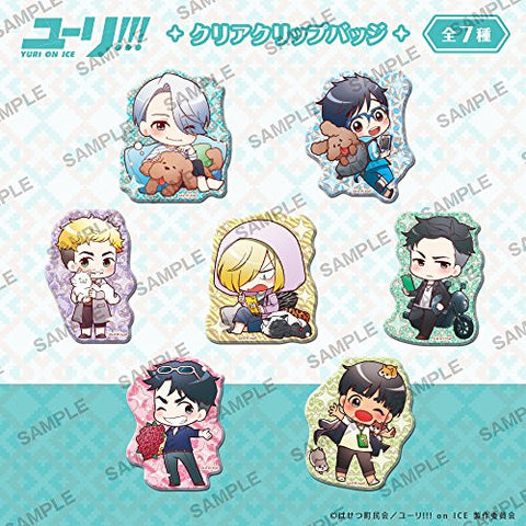 Image for Yuri!!! on Ice - Clear Clip Badge - Set