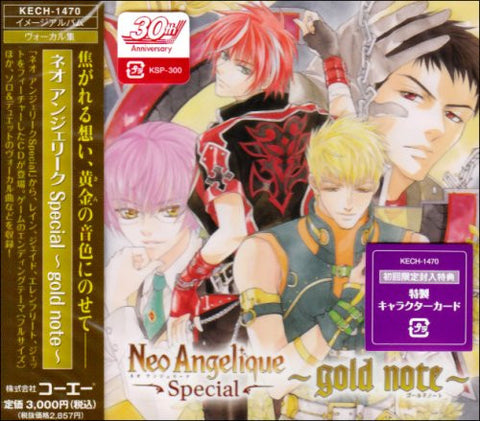 Image for Neo Angelique Special ~gold note~