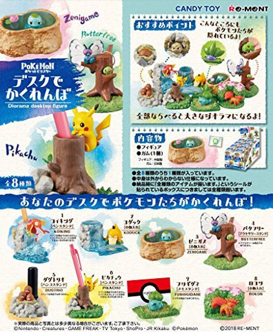 Pocket Monsters - Candy Toy - Card Holder - Pokémon Hide and Seek at the Desk - 7 - Box