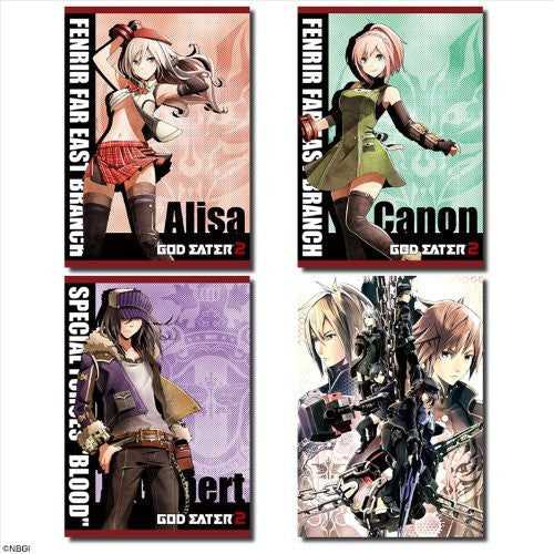 Image 1 for God Eater 2 - Alisa Ilinichina Amiella - Daiba Kanon - Julius Visconti - Gilbert McLane - Clear Poster (Dezaegg)