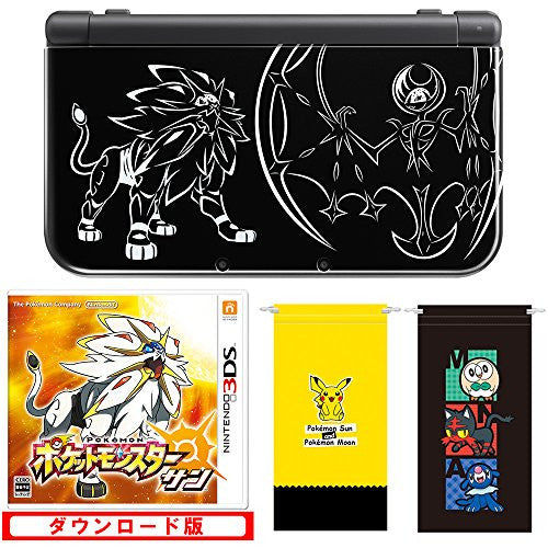 Image 2 for New Nintendo 3DS LL Solgaleo & Lunaala Black - Sun Set (incl. Pouch)