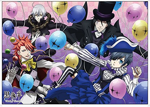 Image 1 for Kuroshitsuji ~Book of Circus~ - Ciel Phantomhive - Sebastian Michaelis - Joker - Snake - Clear Poster (Penguin Parade)