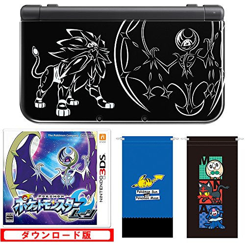 Image 2 for New Nintendo 3DS LL Solgaleo & Lunaala Black - Moon Set (incl. Pouch)