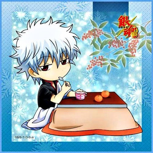 Image 1 for Gintama - Sakata Gintoki - Towel - Mini Towel - winter ver.2 (Broccoli)