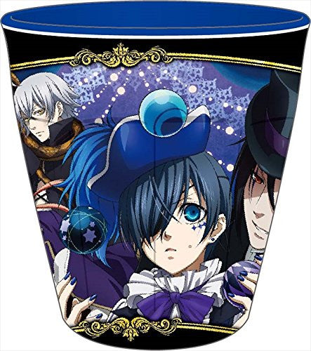 Image 1 for Kuroshitsuji ~Book of Circus~ - Ciel Phantomhive - Joker - Sebastian Michaelis - Snake - William T. Spears - Cup - Melamine Cup B (Ensky)