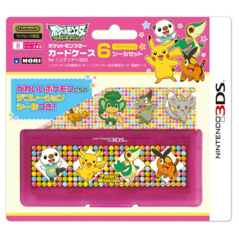Image for Pocket Monster Card Case 6 Seal Set for Nintendo 3DS (Best Wish Version)