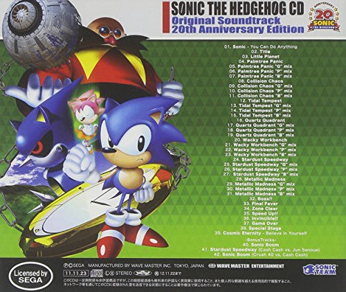 Image 2 for SONIC THE HEDGEHOG CD Original Soundtrack 20th Anniversary Edition