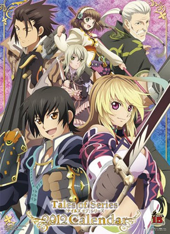 Image for Tales of Eternia - Tales of Graces - Tales of Innocence - Tales of Phantasia - Tales of Rebirth - Tales of Symphonia - Tales of the Abyss - Tales of Vesperia - Tales of Xillia - Wall Calendar - 2012 (Namco Try-X)[Magazine]