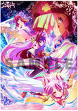 Thumbnail 1 for No Game No Life - Jibril - Shiro - Sora - Stephanie Dola - Tet - Clear Poster - Poster (flagments)
