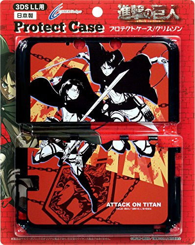 Image 1 for Shingeki No Kyojin Protect Case for 3DS LL (Crimson)