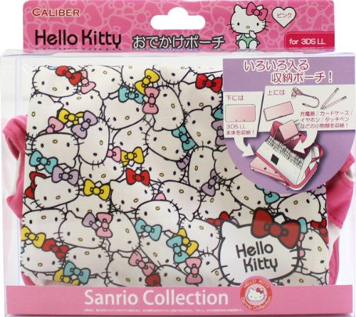 Image 1 for Hello Kitty Odekake Pouch for 3DS LL (Pink)