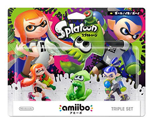 Image 1 for amiibo Splatoon Series Figure Triple Set (Girl / Ika / Boy)
