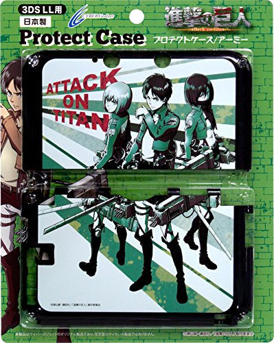 Image 1 for Shingeki No Kyojin Protect Case for 3DS LL (Army)