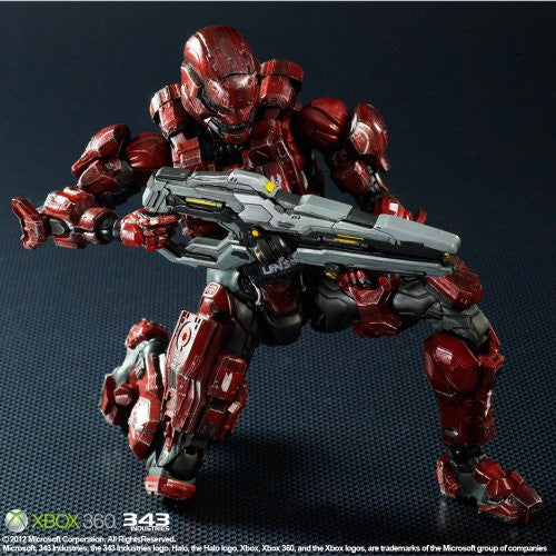Image 4 for Halo 4 - Spartan Solider - Play Arts Kai - Red (Square Enix)