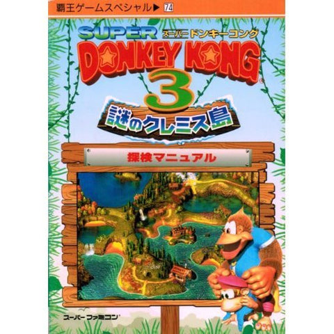 Image for Donkey Kong Country 3 Adventure Manual Guide Book / Snes