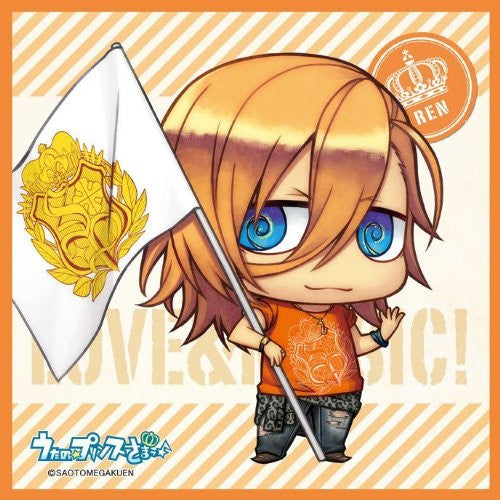 Image 1 for Uta no☆Prince-sama♪ - Uta no☆Prince-sama♪ Debut - Jinguuji Ren - Mini Towel - Towel - Chimipuri, Flag Ver. (Broccoli)