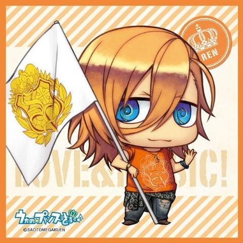 Image for Uta no☆Prince-sama♪ - Uta no☆Prince-sama♪ Debut - Jinguuji Ren - Mini Towel - Towel - Chimipuri, Flag Ver. (Broccoli)