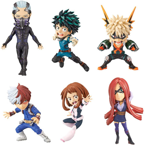 Boku no Hero Academia: The Movie Heroes Rising - Nine - Midoriya Izuku - Bakugo Katsuki - Todoroki Shoto - Uraraka Ochaco - Slice - World Collectible Figure - Set of 6 Figures (Banpresto)