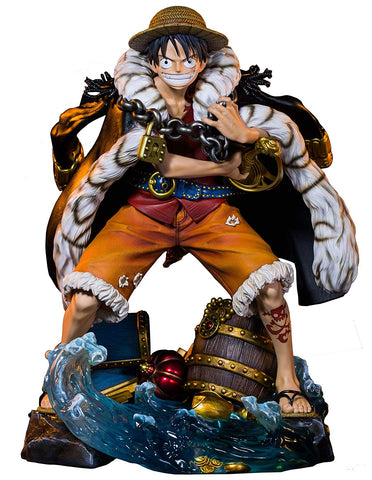 One Piece Monkey D Luffy One Piece Log Collection Statue Plex Unique Art Studio