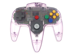 Nintendo 64 Controller Bros - Clear Purple Controller (no box/manual)