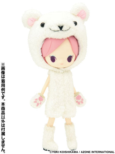 Luna Rock Recommended Wear - Little ChouxChoux Fluffy Plush Outfit Set Polar Bear (DOLL ACCESSORY)
