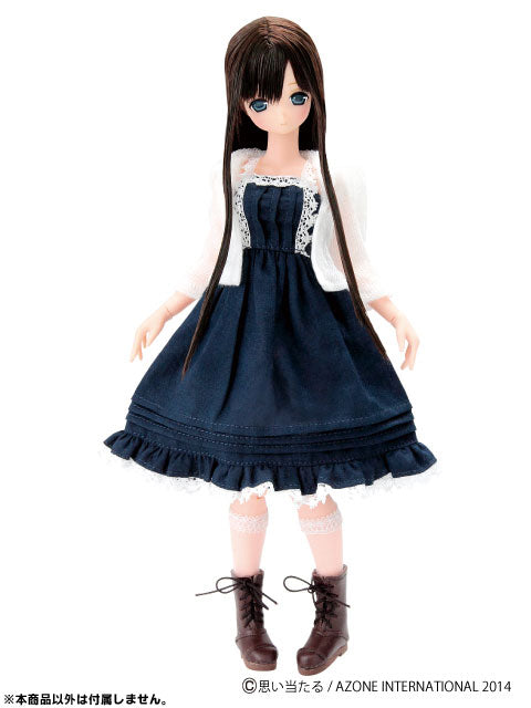 Doll Clothes - Shoes - Pureneemo Original Costume - Pokkori Laced Up Boots - Dark Brown (Azone)