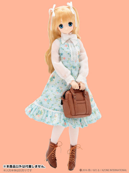 Doll Clothes - Pureneemo Original Costume - PureNeemo M Size Costume - Tea Party Jumper Skirt Set - 1/6 - Rococo Blue (Azone)