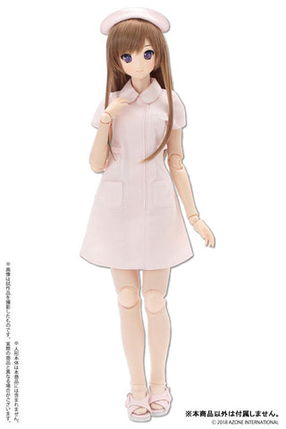 50cm Collection - Doll Clothes - AZO2 Nurse Set - 1/3 - Pink (Azone)