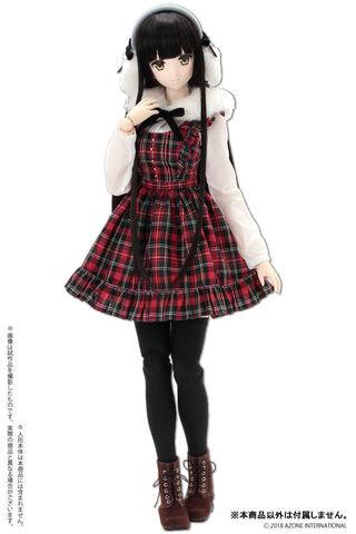 50cm Collection - Doll Clothes - AZO2 Classical Check Jumper Dress Set - 1/3 - Red Check (Azone)