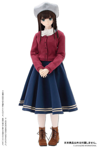 50cm Collection - Doll Clothes - AZO2 Literature Girl Set - Blue (Azone)