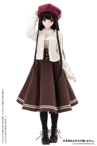 50cm Collection - Doll Clothes - AZO2 Literature Girl Set - 1/3 - Brown (Azone)