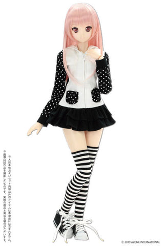 50cm Collection - Doll Clothes - AZO2 Bunny Parker One-piece - White x Black (Azone)
