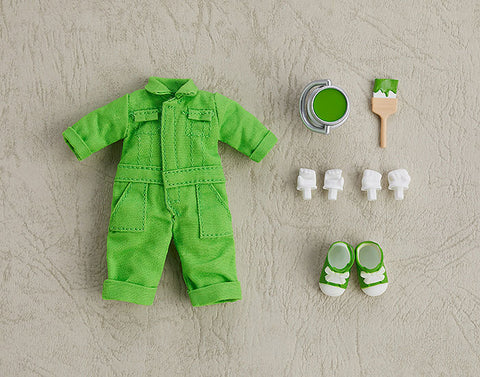 Nendoroid Doll: Outfit Set - Colorful Coveralls - Lime Green (Good Smile Company)