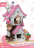 "D Stage #057 ""Disney"" Chip & Dale Tree House (Cherry Blossom Edition) - 6"