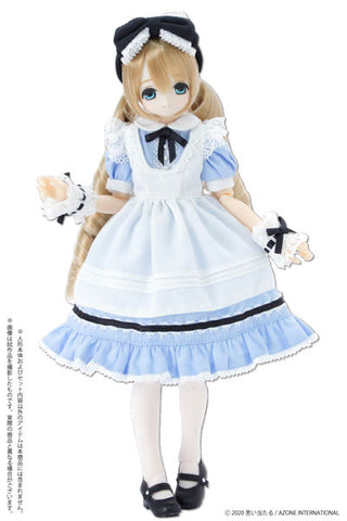 1/6 Pure Neemo Wear PNS Yumemiru Shoujo no Alice Dress Set Alice Blue (DOLL ACCESSORY)