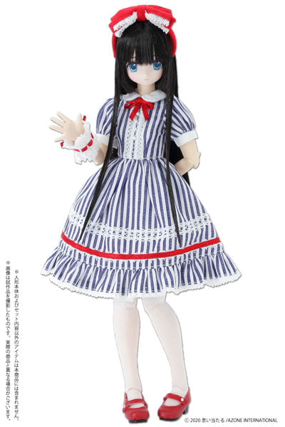 1/6 Pure Neemo Wear PNS Yumemiru Shoujo no Alice Dress Set Blue Stripe (DOLL ACCESSORY)