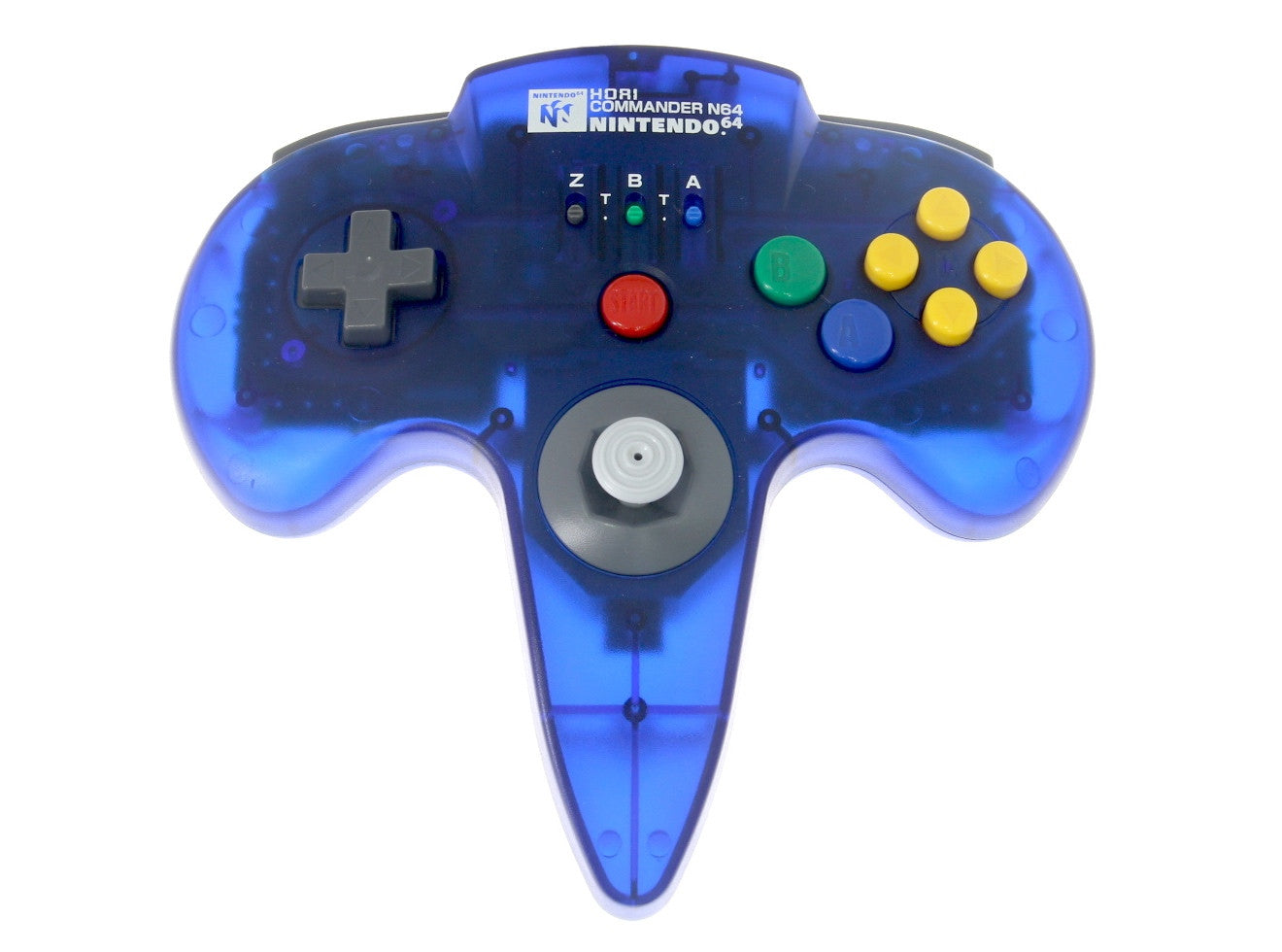 Image 1 for HORI Commander  Clear Blue N64 (no box/manual)