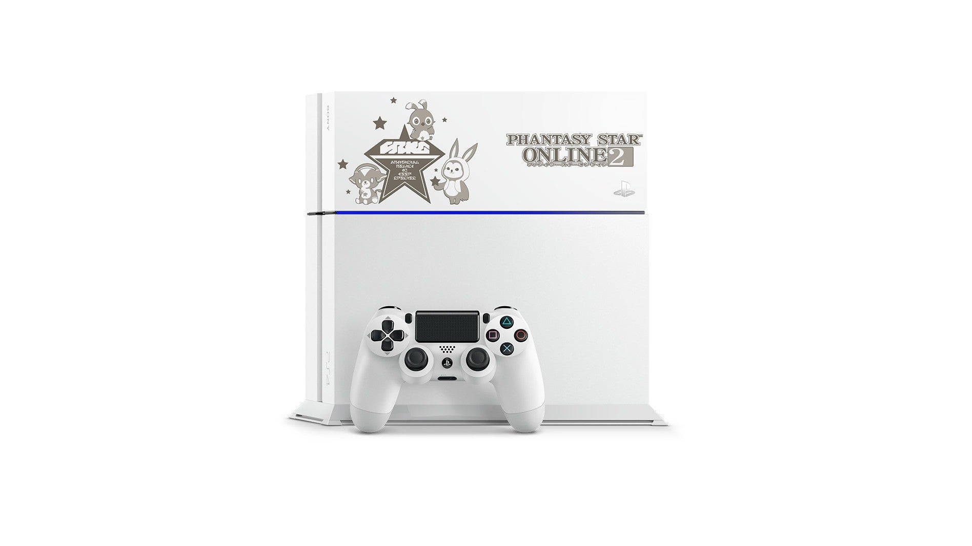 Playstation 4 Phantasy Star Online 2 500 Gb Model Glacier White Lim Stik Ps4 New Limited Edition