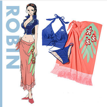 Image 1 for One Piece - Peach John Collaboration - Robin Swimwear Set (S-M Size)
