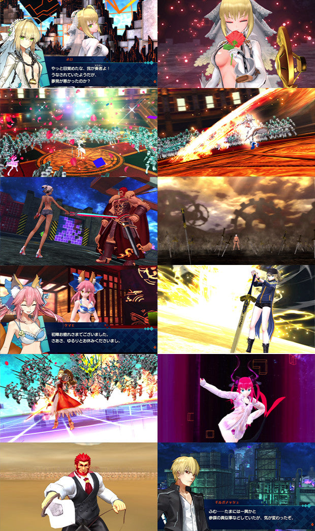 Image 3 for Fate/EXTELLA - ebten Limited Canvas Art Set