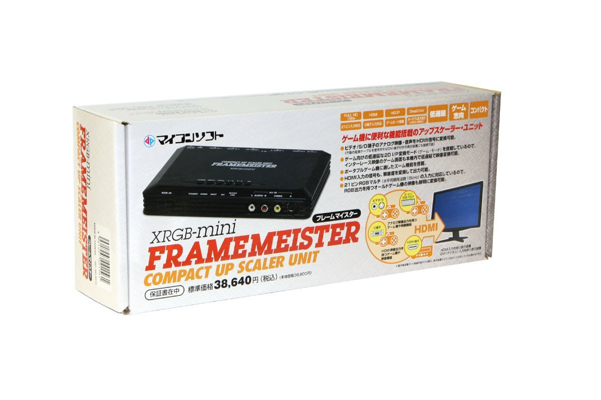 EU Tax Free: XRGB-mini Framemeister Compact Up Scaler Unit (EUR Scart Adapter)